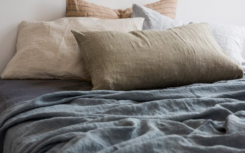 Pure linen sheets are comfortable